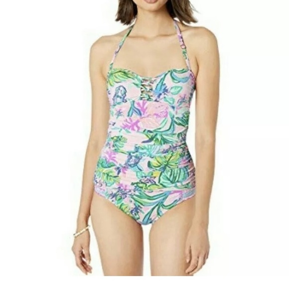 Lily Pulitzer Mermaid in the shade Tankini Top